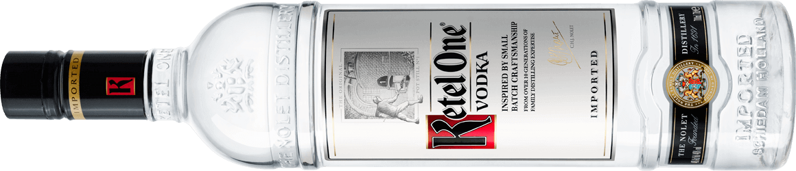 Ketel One Vodka Bottle Horizontal