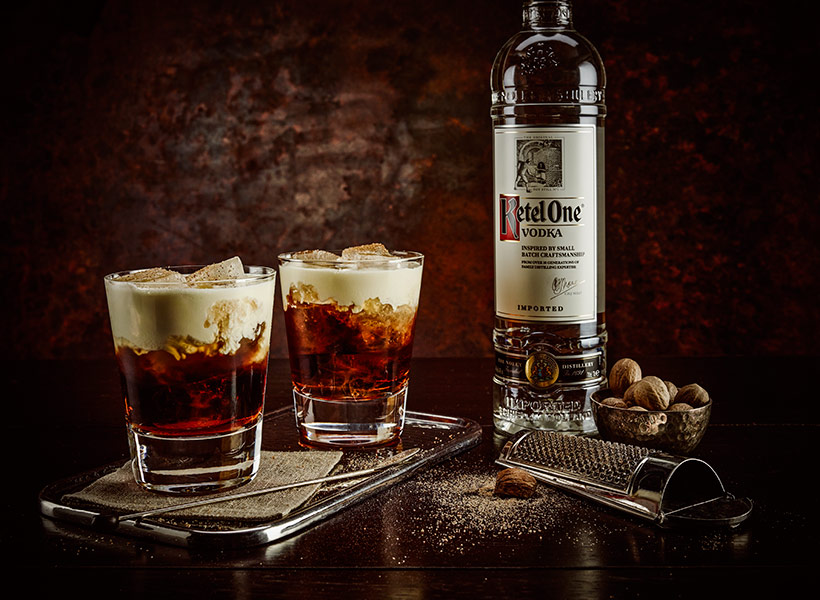 Making White Russian Drink