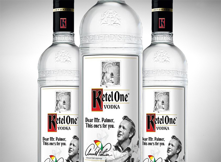 Arnold Palmer Collector's Edition Ketel One Vodka Bottle