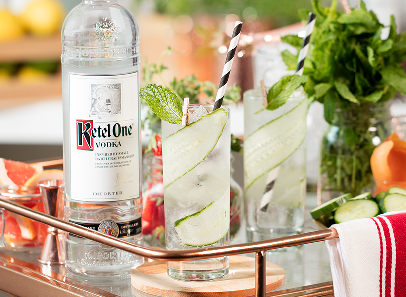 Ketel One Cucumber Mint Soda