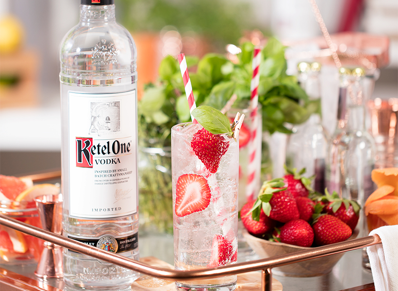 Ketel One Strawberry Basil Soda