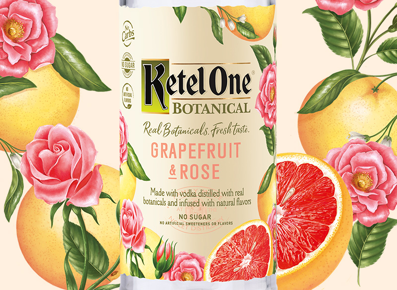 Ketel One Botanical Grapefruit & Rose Bottle - Ketel One Vodka
