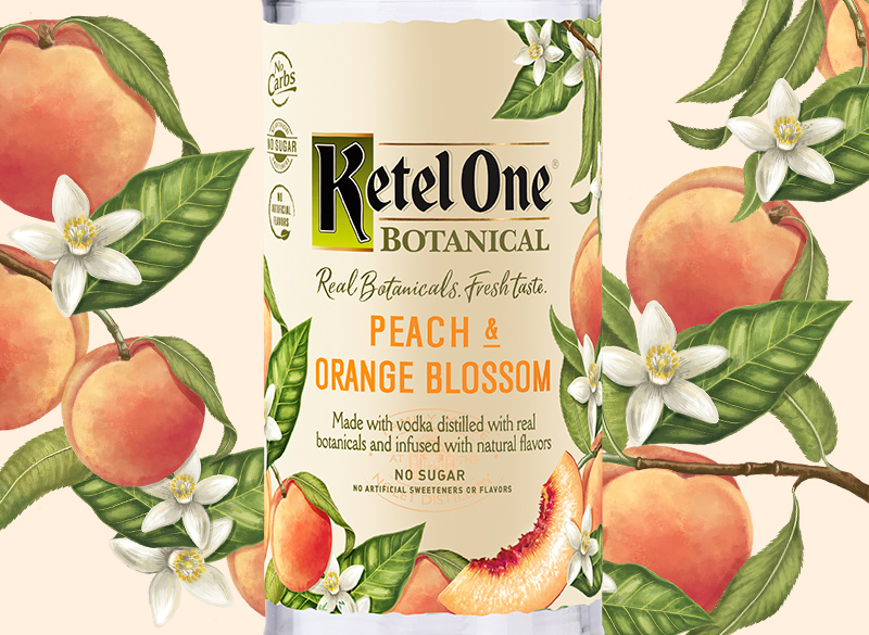 Ketel One Botanical Peach & Orange Blossom Bottle - Ketel One Vodka